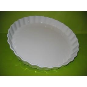 TOURTIERE Grand modèle 33 cm en porcelaine blanche