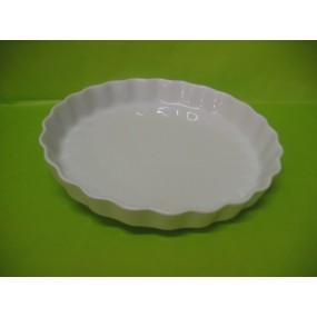 TOURTIERE ou MOULE A QUICHE 30 cm diam en porcelaine blanche