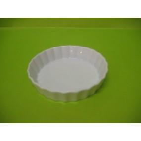 MOULE A TARTELETTE ou TOURTIERE Individuelle 12 cm en porcelaine blanche