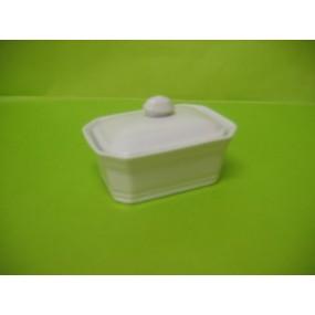 TERRINE A FOIE GRAS 100G RECTANGULAIRE en porcelaine blanche