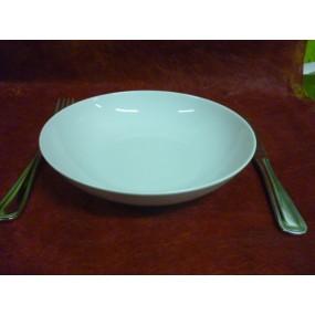 ASSIETTE CREUSE CALOTTE ELYSEE  diam 20.6cm en porcelaine blanche