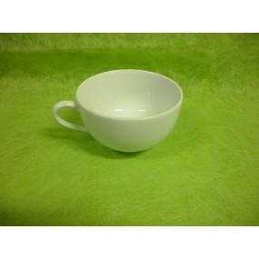 TASSE A CAFE ou THE modèle LOUVRE 21cl en porcelaine blanche sans soustasse