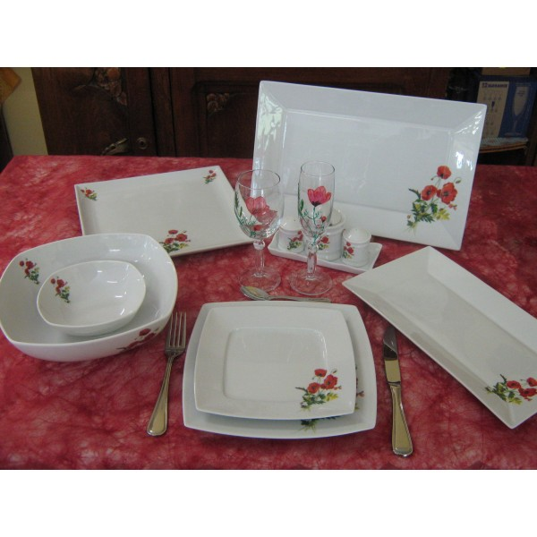 service de table en porcelaine centre vaisselle porcelaine blanche et d 233 cor 233 e plats et