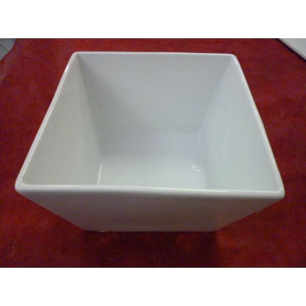 saladier haut carre gd modele 14x14cm en porcelaine blanche centre vaisselle sarl la. Black Bedroom Furniture Sets. Home Design Ideas