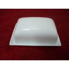 BEURRIER RECTANGULAIRE KITCHEN 500 g en porcelaine blanche
