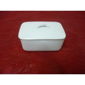 BOITE A BEURRE RECTANGULAIRE 250 g en porcelaine blanche
