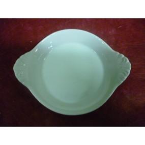 PLAT A OEUFS A OREILLES modèle moyen en porcelaine blanche