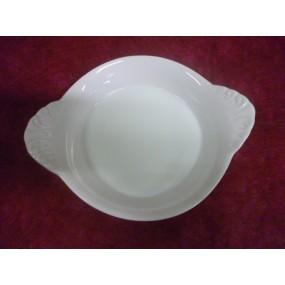 PLAT A OEUFS A OREILLES 15cl petit modèle en porcelaine blanche
