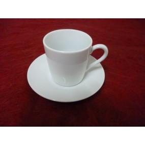 TASSE A CAFE Empire 10cl avec soustasse en porcelaine blanche