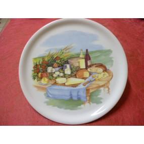 PLATEAU A FROMAGE DECOR n°1 en porcelaine