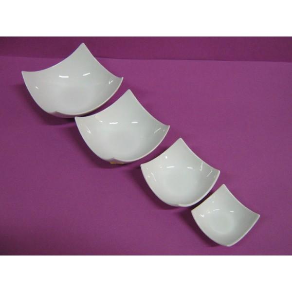 Coupelle carree design 14 cm en porcelaine blanche centre vaisselle sarl la - Service vaisselle design ...