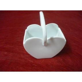 SAC forme de coeur en porcelaine blanche