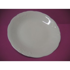 PLAT ROND PLAT FRYDERYKA en porcelaine blanche
