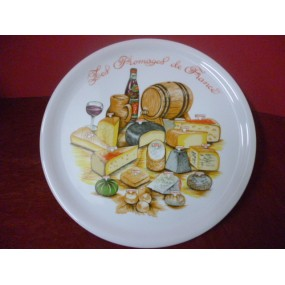 PLATEAU A FROMAGE DECOR n°3 en porcelaine