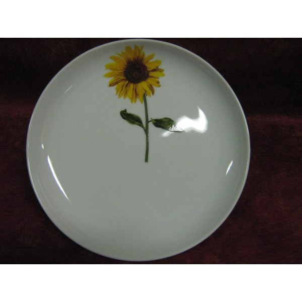 assiette plate elysee decor tournesol en porcelaine. Black Bedroom Furniture Sets. Home Design Ideas