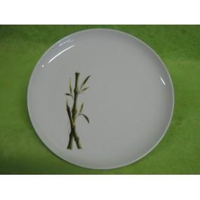 assiette plate decor bambou mod le elysee en porcelaine centre vaisselle sarl la porcelaine de. Black Bedroom Furniture Sets. Home Design Ideas