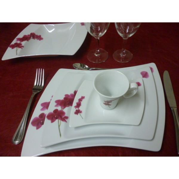 Service de table en porcelaine centre vaisselle for Service de table cora