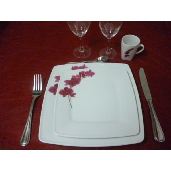 assiette a dessert carre victoria en porcelaine blanche. Black Bedroom Furniture Sets. Home Design Ideas