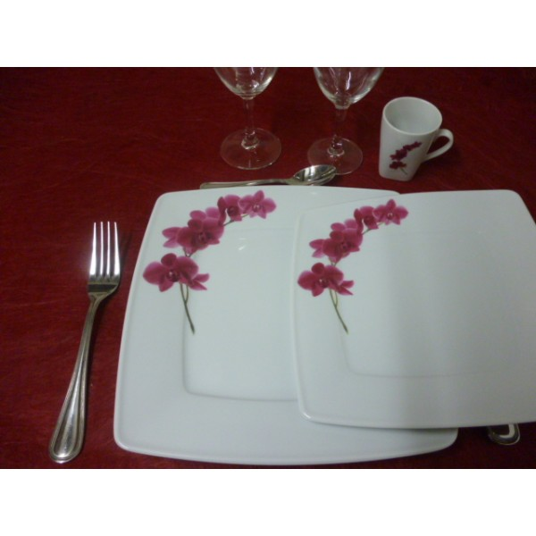 Service de table 18 pcs assiettes carr es victoria et ses for Service de table japonais