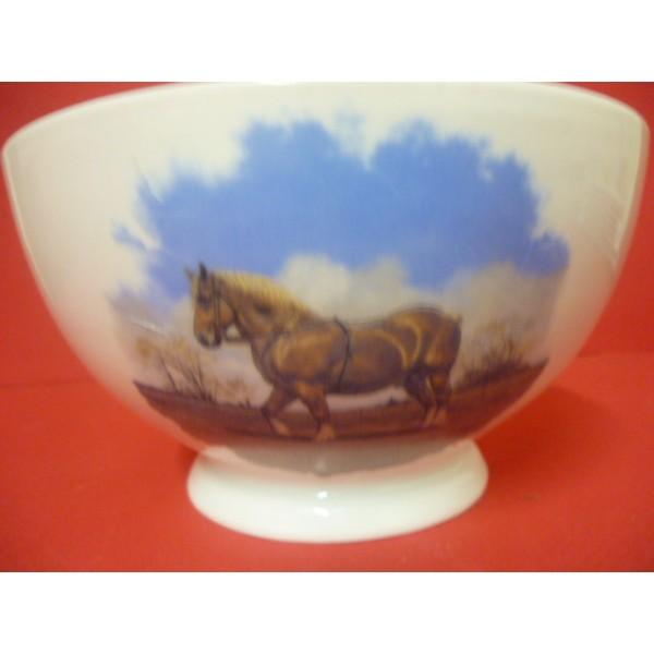 bol talon decor cheval breton en porcelaine diam 14 2 cm centre vaisselle sarl la porcelaine. Black Bedroom Furniture Sets. Home Design Ideas