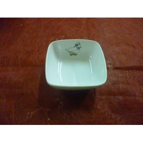 COUPELLE CARREE SAHARA 9x9cm 15cl petit modèle en porcelaine décor OIES