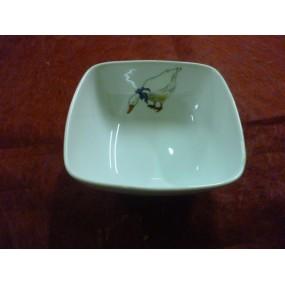 COUPELLE CARREE SAHARA 11x11cm en porcelaine Décor OIES