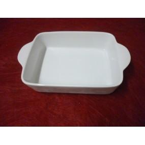 PLAT A LASAGNES RECTANGULAIRE 22 x 14cm ht 5.2 en porcelaine blanche