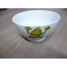 BOL TALON 55CL DECOR GRENOUILLE en porcelaine  diam 14 cm