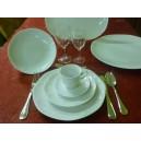 SERVICE DE TABLE JASTRA 24 pièces en Porcelaine blanche