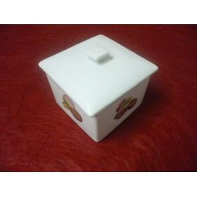 BOITE A MACARONS ou A BONBONS en porcelaine décorée Gd modele