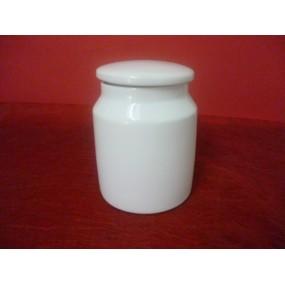 POT A BONBONS/CORNICHONS hermétique en porcelaine blanche