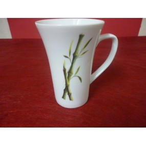MUG TRIANON 35ccl DECOR BAMBOU en porcelaine
