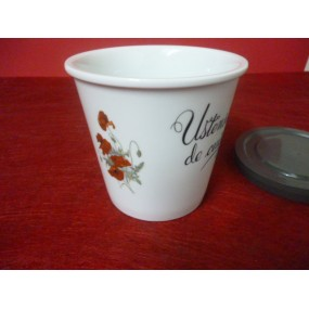 POT CONIQUE 50cl decoré Coquelicots avec couvercle hermétique en porcelaine