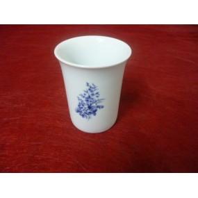 GOBELET ou VERRE A DENTS ROND DECOR BLEU LUISA en porcelaine
