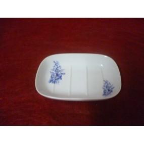 PORTE SAVON classique en porcelaine décor BLEU LUISA