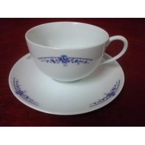 DEJEUNER BOULE DECOR ROYAL BLUE avec soustasse 45 cl en porcelaine