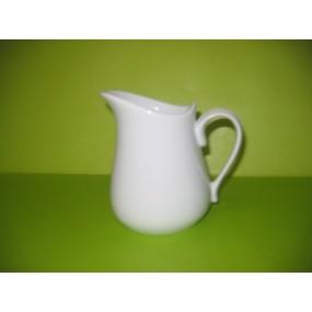 PICHET / POT A LAIT BOULE 50cl en porcelaine blanche