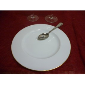ASSIETTE A DESSERT HELENE DECOR 1 FILET OR en porcelaine