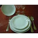 SERVICE 24 Assiettes modèle JASTRA en Porcelaine blanche