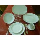 SERVICE DE TABLE JASTRA 26 pièces en Porcelaine blanche