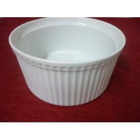 MOULE A SOUFFLE 220cl en porcelaine blanche diam 21cm x ht 10.5cm