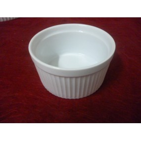 MOULE A SOUFFLE 100cl en porcelaine blanche diam17cm