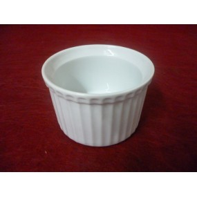 MOULE A SOUFFLE 30cl ou RAMEQUIN INDIVIDUEL diam 10cm x 6.5cm haut  en porcelaine blanche