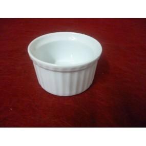 RAMEQUIN  INDIVIDUEL 18cl en porcelaine blanche
