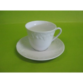 TASSE CAFE + soustasse CALIFORNIA en porcelaine de Limoges Deshoulières