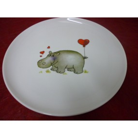 Assiette Décor enfant en porcelaine - Centre Vaisselle - Porcelaine ...