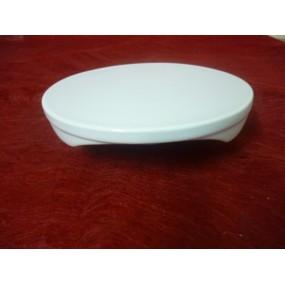 DESSOUS DE PLAT ROND en porcelaine blanche