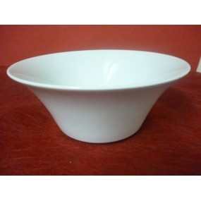 SALADIER CONIQUE diam 24cm haut 10cm en porcelaine blanche