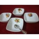 COUPELLE CARREE DECOR FRUITS modèle SAHARA 11x11cm 22cl en porcelaine
