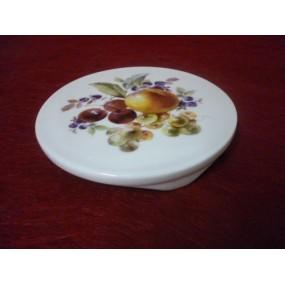 DESSOUS DE PLAT ROND en porcelaine Décor COQUELICOT